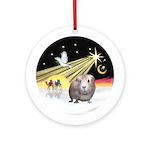 Xmas Dove - Guinea Pig #2 Ornament (Round)