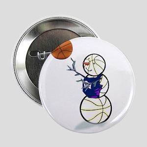 """Basketball Snowman 2.25"""" Button (10 pack)"""
