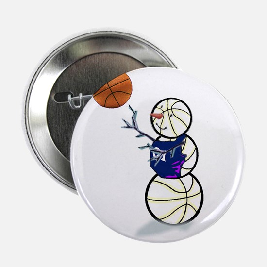 "Basketball Snowman 2.25"" Button (10 pack)"