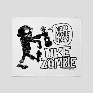 Uke Zombie Throw Blanket