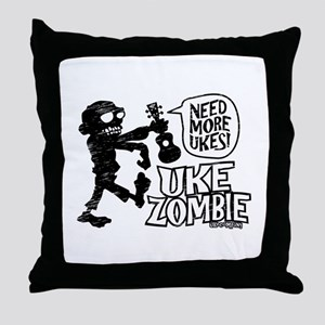Uke Zombie Throw Pillow
