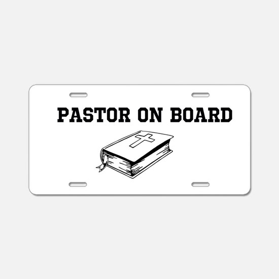 Pastor On Board Aluminum License Plate