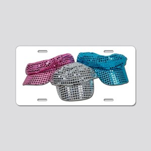 Red White Blue Disco Hats Aluminum License Plate