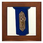 Retro Doorknob Framed Tile