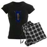 Retro Doorknob Women's Dark Pajamas