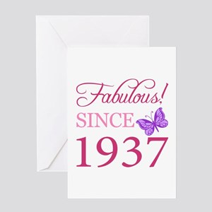 Fabulous Since 1937 Greeting Card