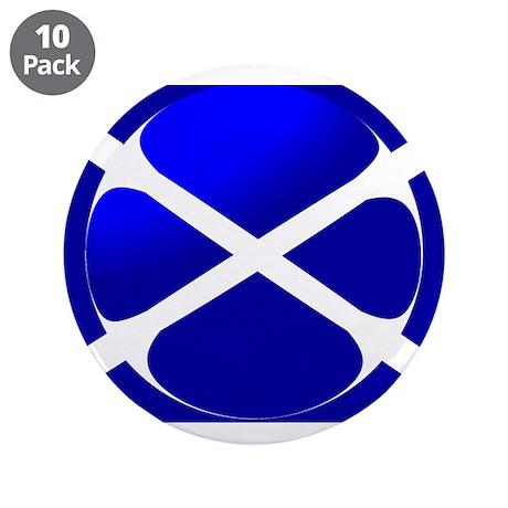 "Scottish Flag Design 3.5"" Button (10 pack)"