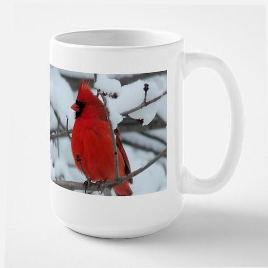 Snow Cardinal Large Mug