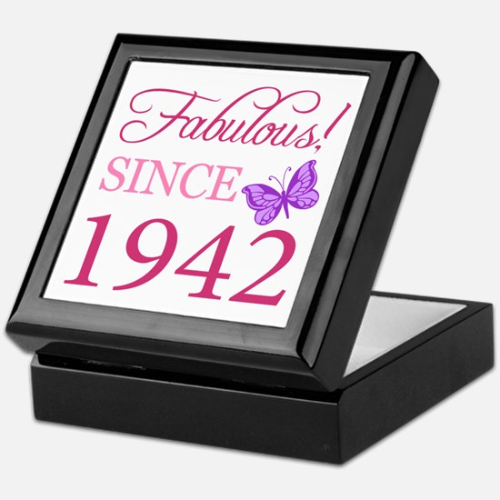 Fabulous Since 1942 Keepsake Box