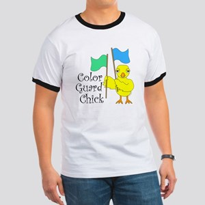 Color Guard Chick Text Ringer T