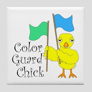 Color Guard Chick Text Tile Coaster
