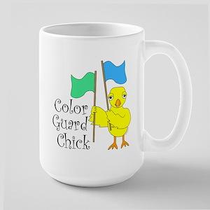 Color Guard Chick Text Large Mug