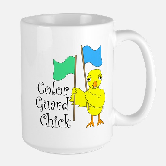 Color Guard Chick Text Large Mug