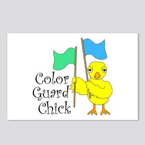 Color Guard Chick Text Postcards (Package of 8)