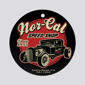Nor-Cal Speed Shop Ornament (Round)