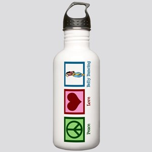 Peace Love Belly Dancing Stainless Water Bottle 1.