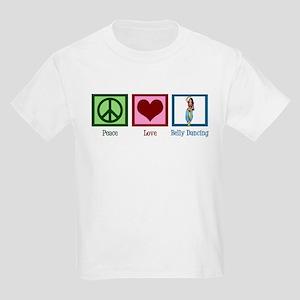 Peace Love Belly Dancing Kids Light T-Shirt