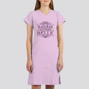 Pink Badass Southern Belle Women's Nightshirt