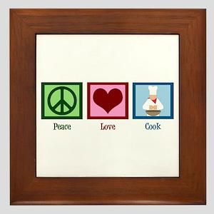 Peace Love Cook Framed Tile