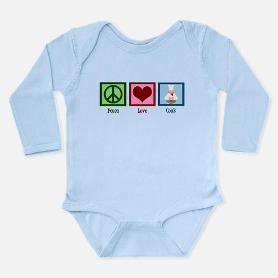 Peace Love Cook Long Sleeve Infant Bodysuit