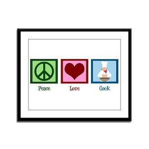 Peace Love Cook Framed Panel Print
