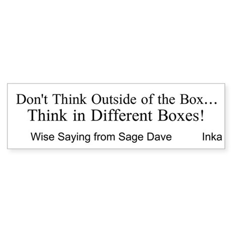 Boxes Sticker (Bumper)