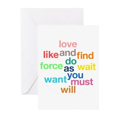 Love And Do As You Will Greeting Cards (Pk of 20)