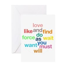 Love And Do As You Will Greeting Card