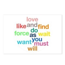 Love And Do As You Will Postcards (Package of 8)