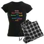 Love And Do As You Will Women's Dark Pajamas