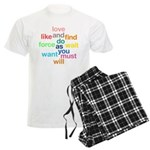 Love And Do As You Will Men's Light Pajamas