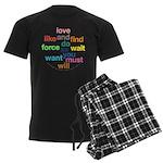 Love And Do As You Will Men's Dark Pajamas