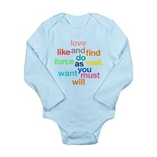 Love And Do As You Will Long Sleeve Infant Bodysui