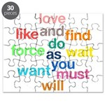Love And Do As You Will Puzzle