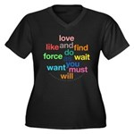 Love And Do As You Will Women's Plus Size V-Neck D