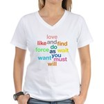 Love And Do As You Will Women's V-Neck T-Shirt