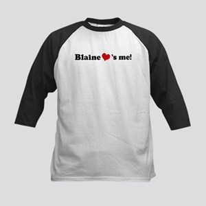 Blaine loves me Kids Baseball Jersey