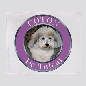 Coton De Tulear Throw Blanket