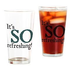 Jane Austen So Refreshing Drinking Glass