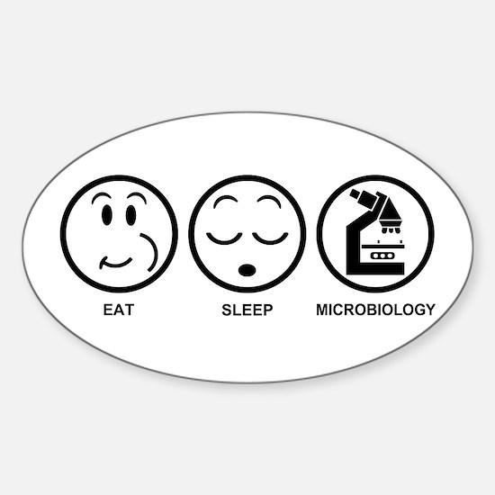 Eat Sleep Microbiology Sticker (Oval)