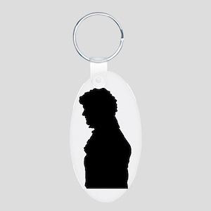 Jane Austen Mr. Darcy Aluminum Oval Keychain