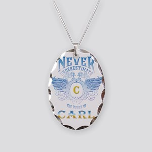 Never underestimate the power Necklace Oval Charm