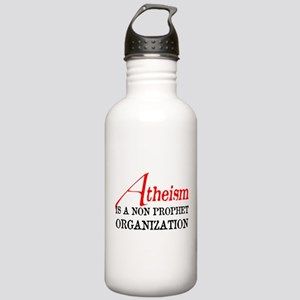 Atheism is a Non Prophet Stainless Water Bottle 1.
