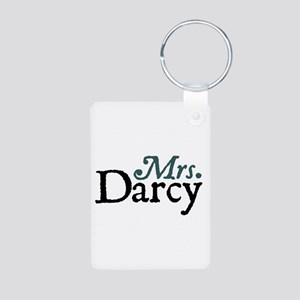 Jane Austen Mrs. Darcy Aluminum Photo Keychain