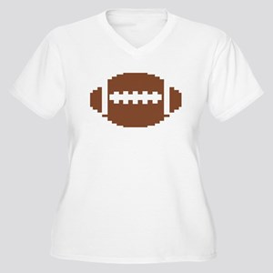 Pixel Football Women's Plus Size V-Neck T-Shirt