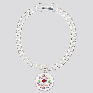 Peace Love Ladybugs Charm Bracelet, One Charm