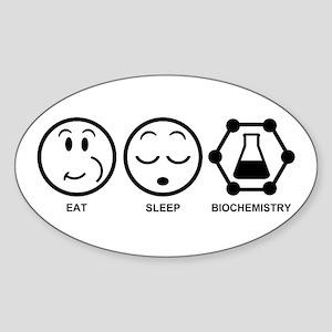 Eat Sleep Biochemistry Sticker (Oval)