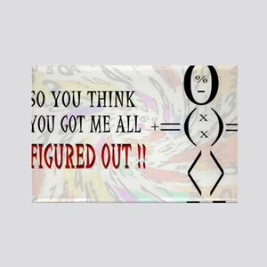 so you think you got me all f Rectangle Magnet