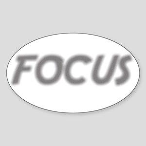 Focus! Sticker (Oval)