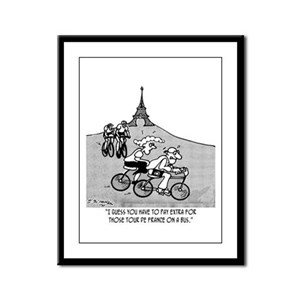 Pay Extra For Tour de France on a Bus Framed Panel